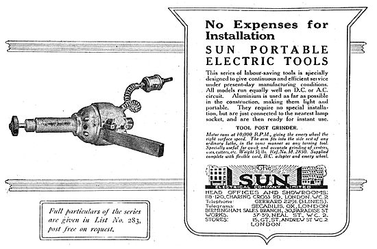 The Sun Electrical Company - Sun Portable Electric Tools