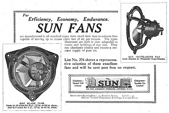 The Sun Electrical Company - Factory Ventilation Fans