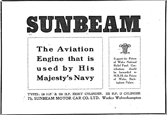 Sunbeam - The Aviation Engine Used By His Majesty's Navy