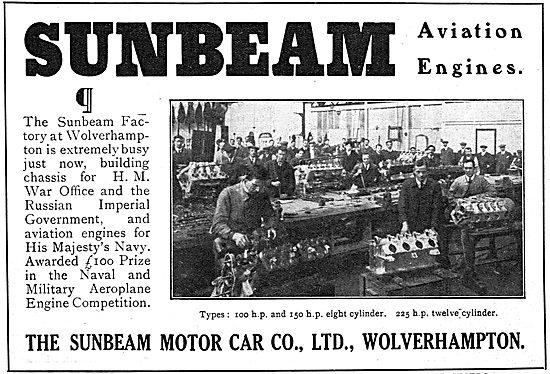 Sunbeam 100 & 150 HP 8 Cylinder Aviation Engines