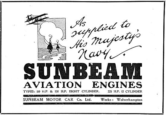 Sunbeam Motor Co Wolverhampton - Aviation Engines