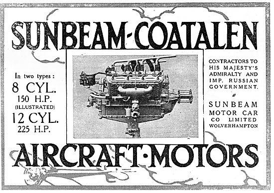 Sunbeam-Coatalen 8 Cylinder 150 HP Aero Engine