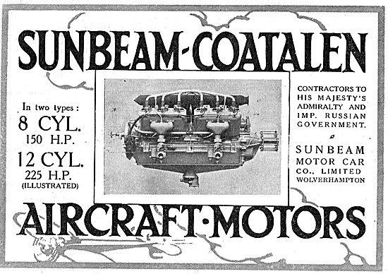 Sunbeam-Coatalen 12 Cylinder 225 HP Aircraft Motor