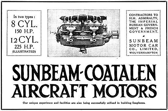 Sunbeam-Coatalen Aero Engines 1916