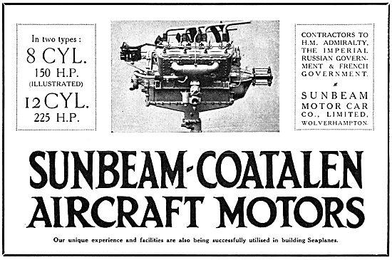 WW1 Sunbeam-Coatalen Aircraft Engines