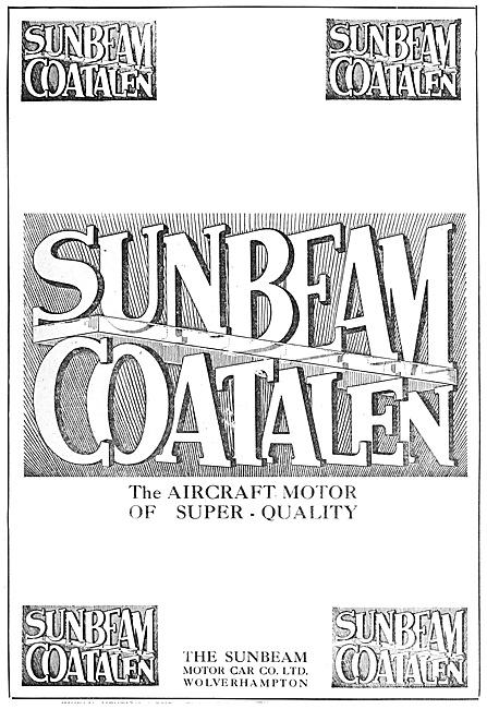 Sunbeam-Coatalen Aircraft Engines 1916