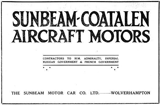 Sunbeam-Coatalen Aircraft Engines WW1