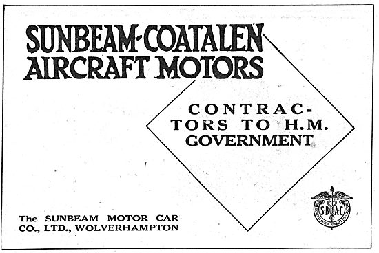 Sunbeam-Coatalen. Wolverhampton. Aero-Engine Manufacturers