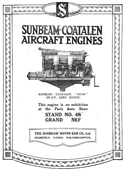 Sunbeam-Coatalen Aircraft Engines - Dyak