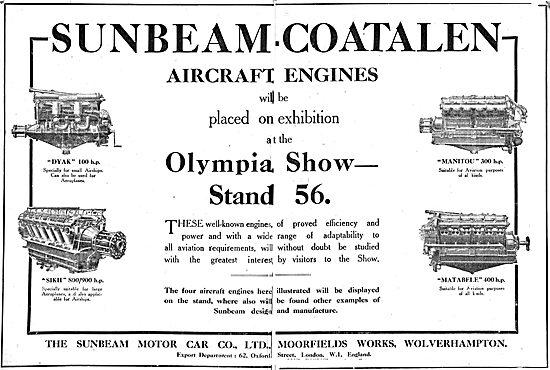 Sunbeam-Coatalen Dyak & Matabele Aero Engines