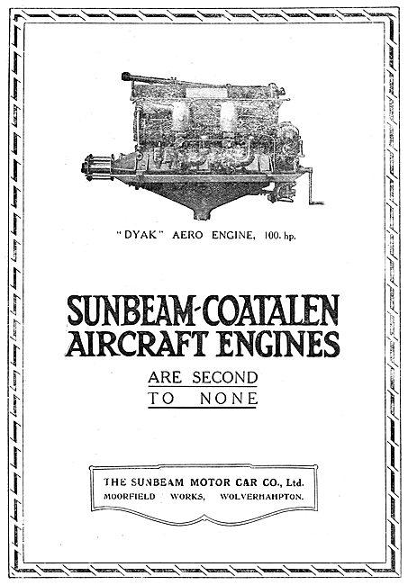 Sunbeam-Coatalen Dyak 100hp Aero Engine