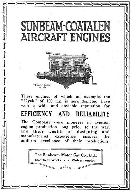 Sunbeam-Coatalen  100 HP Dyak Aero Engine