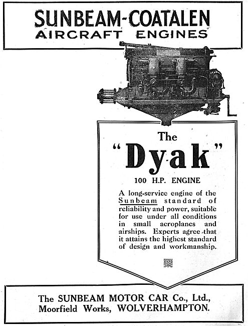 Sunbeam-Coatalen Dyak 100 HP Aero Engine