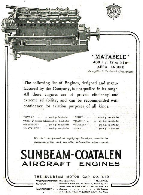 Sunbeam -Coatalen Dyak,Arab,Manitou,Matabele,Sikh & Maori