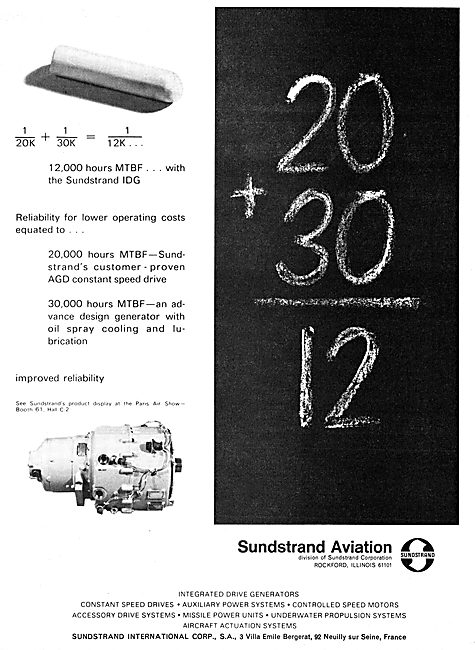 Sunstrand Aviation - Electrical Power Systems & Components