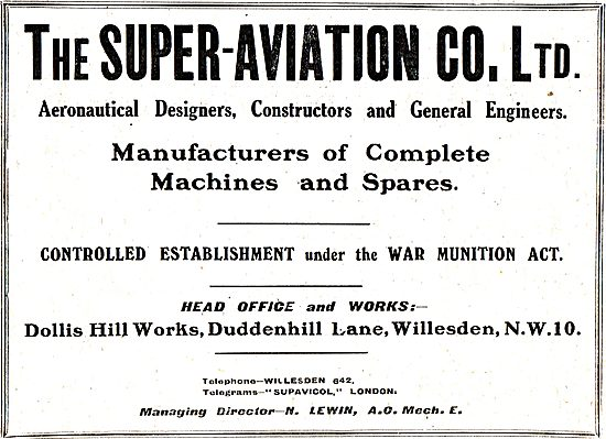 The Super Aviation Co - Manufacturers Of Aircraft & Components