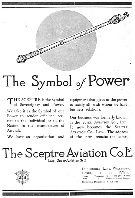 The Sceptre  Aviation Co - Manufacturers Of Aircraft & Components