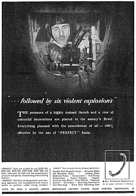 Super Oil Seals  - Seals & Gaskets 1941 Advert
