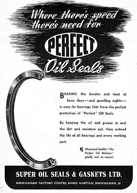 Super Oil Seals. Oil Seals 1942 Advert