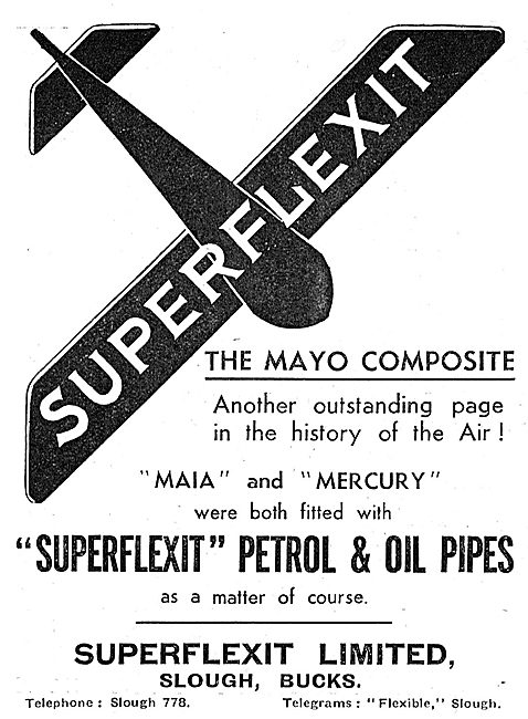 Superflexit Flexible Tubing For Aircraft. Petrol & Oil Pipes