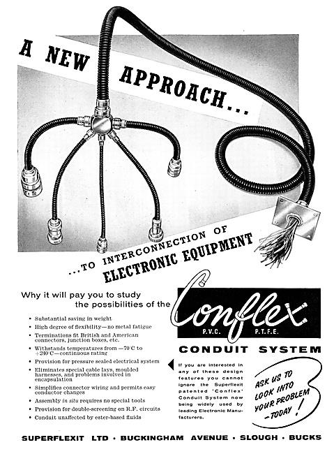 Superflexit Conflex Conduit Systems. P.V.C. P.T.F.E. PTFE