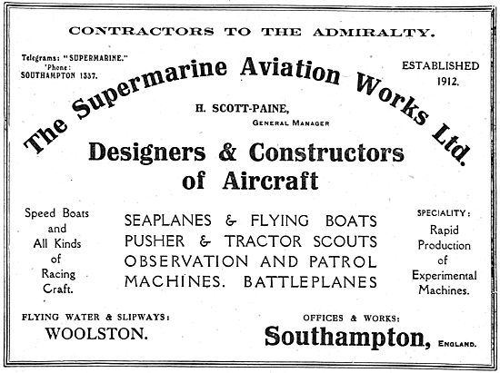 Supermarine - Designers & Constructors Of Aircraft