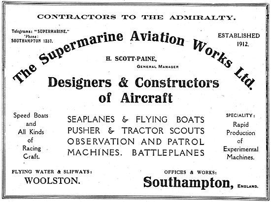 Supermarine - Designers & Constructors Of Aircraft