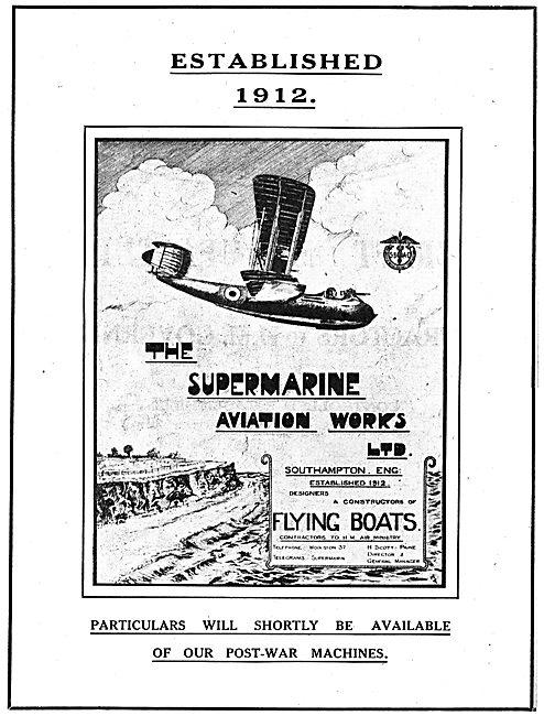 Supermarine Aviation Works Ltd. Southampton. Aircraft Builders