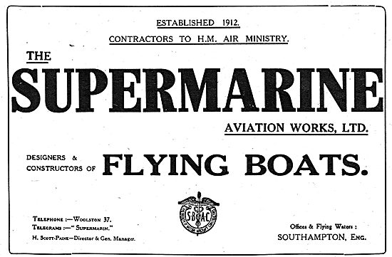Supermarine. Designers & Constructors Of Flying Boats