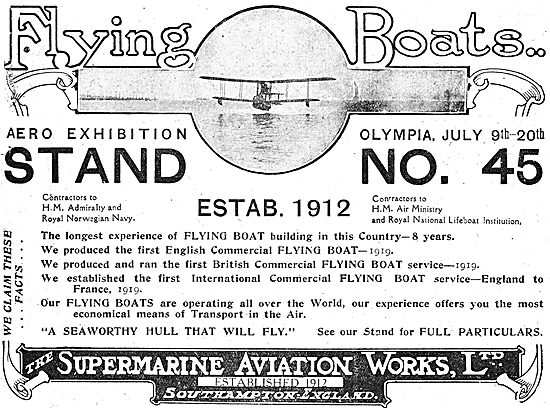 Supermarine Commercial & Military Flying Boats