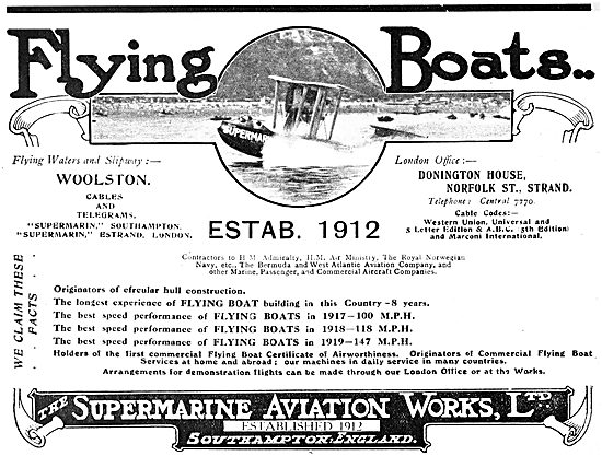 Supermarine Channel Type Flying Boat