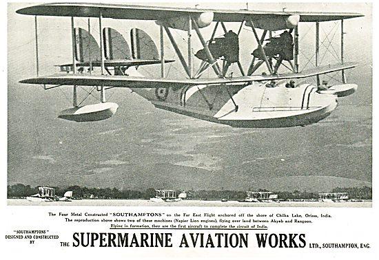 Supermarine Southamptons Anchored At Chilka Lake India