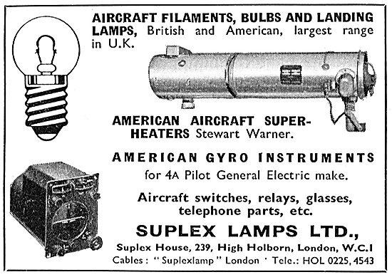 Suplex Lamps - Aircraft Bulbs & Components