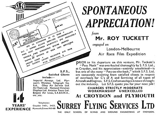 Surrey Flying Services - Aircraft Servicing