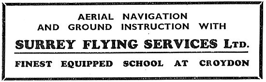 Surrey Flying Services - Aerial Navigation & Ground Instruction