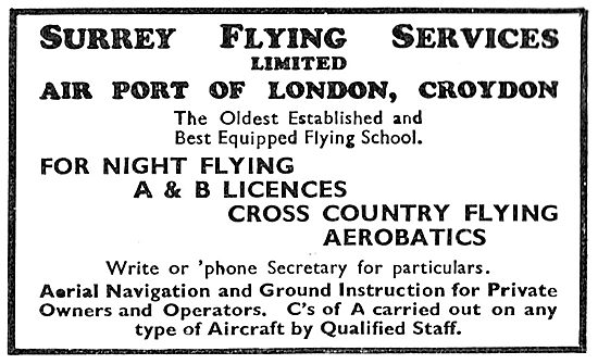 Learn To Fly With Surrey Flying Services At  Croydon Airport