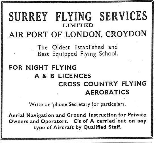 Surrey Flying Services - Night Flying & Aerobatics Training