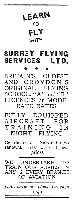 Surrey Flying Services 1932