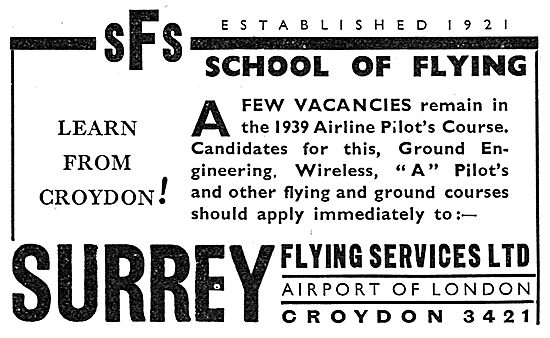 Surrey Flying Services - Flying School