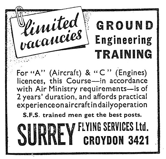 Surrey Flying Services - Ground Engineers Training