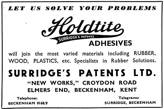 Surridges Patents - Holdtite Adhesives & Sealants.