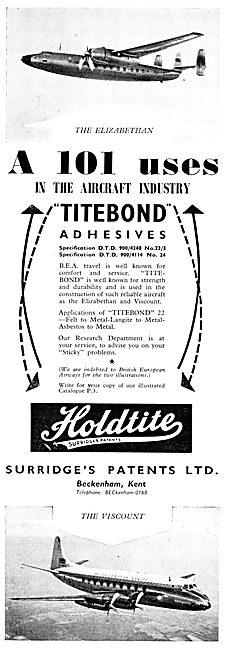Surridges Patents Holdite TITEBOND Adhesives