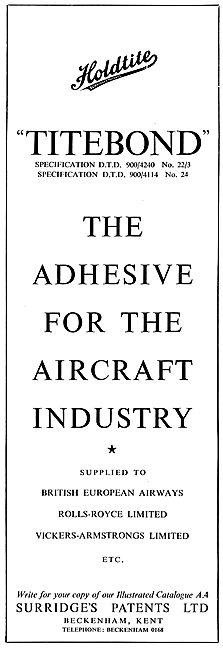 Surridges Patents - Holdite Titebond Adhesives & Sealants.