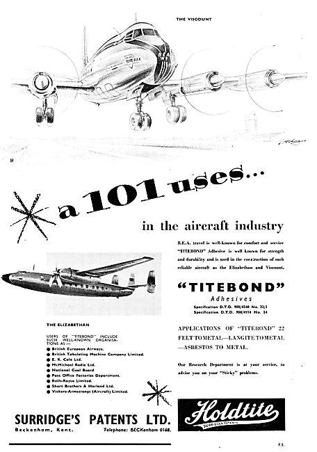 Surridges Patents - Adhesives & Sealants. HOLDITE TITEBOND