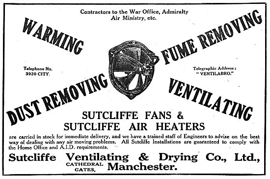 Sutcliffe Ventilating & Drying Co - Factory Fans & Air Heaters