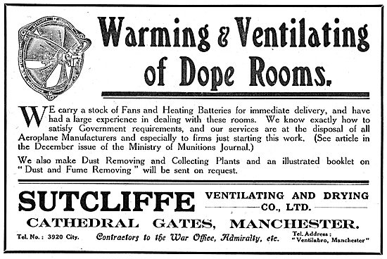 Sutcliffe Ventilating & Drying Co - Factory Air Conditioning