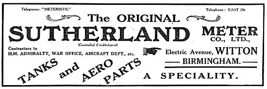 The Original Sutherland Meter Company - Aero Tanks & Parts