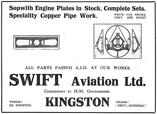 Swift Aviation Aircraft Engineers 1918