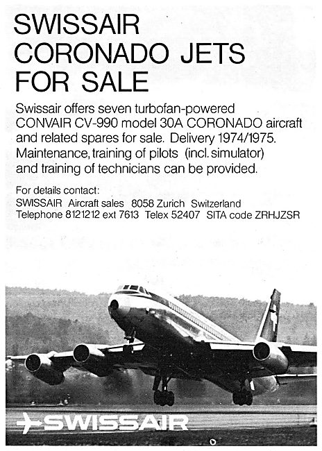 Swissair Aircraft Sales