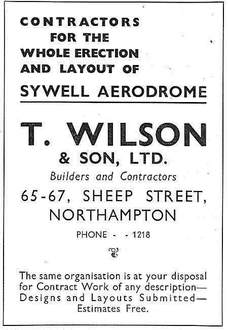 T.Wilson & Son. Sheep St, Northhampton: Sywell Aerodrome